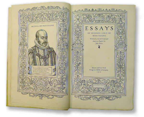 The Complete Essays by Michel de Montaigne — Reviews